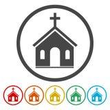 Icona della chiesa di vettore illustrazione di stock