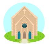 Icona della chiesa di vettore Immagine Stock Libera da Diritti