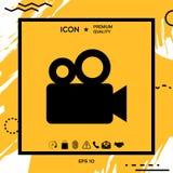 Icona della cinepresa Fotografia Stock