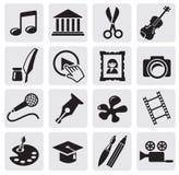 Icona della coltura di arte illustrazione di stock