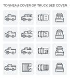 Icona della copertura del Tonneau illustrazione di stock