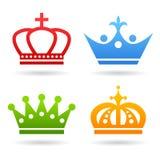 Icona della corona Fotografia Stock