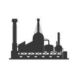 Icona della costruzione della pianta Progettazione di industria Grafico di vettore Immagine Stock Libera da Diritti