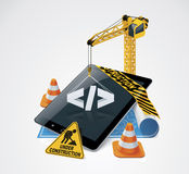 Icona della costruzione di Web site di vettore Fotografie Stock