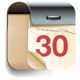 Icona della data di calendario Fotografia Stock Libera da Diritti