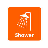 Icona della doccia per il web ed il cellulare Fotografia Stock