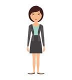 Icona della donna del fumetto Progettazione della persona Grafico di vettore illustrazione di stock