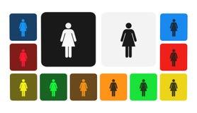 Icona della donna, segno, illustrazione Fotografia Stock