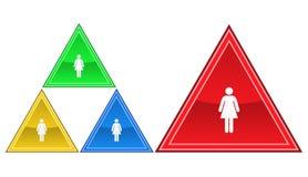 Icona della donna, segno, illustrazione Fotografia Stock Libera da Diritti