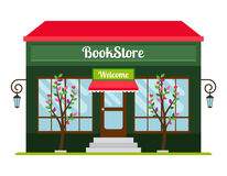 Icona della facciata del deposito di libro Fotografia Stock Libera da Diritti