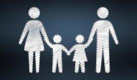 icona della famiglia della rappresentazione 3D Fotografie Stock