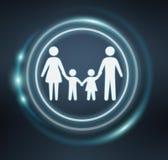 icona della famiglia della rappresentazione 3D Fotografia Stock Libera da Diritti