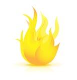Icona della fiamma del fuoco Fotografia Stock