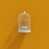 icona della gabbia per uccelli 3d Immagini Stock Libere da Diritti