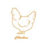 Icona della gallina Fotografia Stock Libera da Diritti