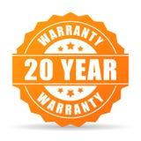 icona della garanzia da 20 anni Fotografia Stock Libera da Diritti