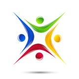 Icona della gente dell'estratto dell'elemento di logo di progettazione Fotografie Stock