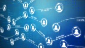 Icona della gente di forma del cerchio e linea del collegamento per il concetto futuristico cyber di tecnologia della rete social illustrazione di stock