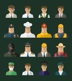 Icona della gente, icone di professioni, insieme di occupazione Fotografia Stock
