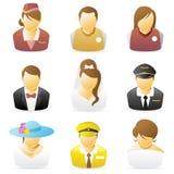 Icona della gente: Le occupazioni hanno impostato 3 Fotografie Stock Libere da Diritti