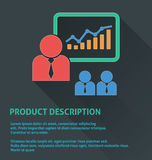 Icona della gestione di progetti, icona di descrizione di prodotto Immagine Stock