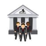 Icona della giustizia Immagine Stock