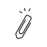 Icona della graffetta Fotografia Stock