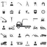 icona della gru del camion illustrazione di stock