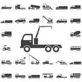 icona della gru del camion illustrazione vettoriale