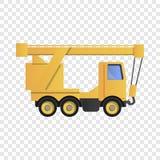 Icona della gru del camion, stile del fumetto royalty illustrazione gratis