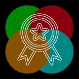 Icona della guarnizione di certificazione - distintivo del premio di vettore illustrazione di stock