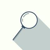 Icona della lente d'ingrandimento, progettazione piana Fotografie Stock
