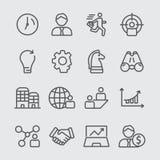Icona della linea di business immagini stock