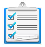 Icona della lista di assegno Fotografie Stock Libere da Diritti