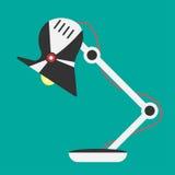 Icona della luce della lampada di scrittorio Lampada dell'ufficio di vettore Immagine Stock