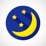 Icona della luna di notte del tempo illustrazione vettoriale