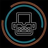 Icona della macchina della macchina da scrivere - tipo macchina della lettera royalty illustrazione gratis