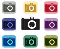 Icona della macchina fotografica Fotografie Stock