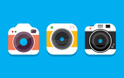 Icona della macchina fotografica della foto Immagini Stock