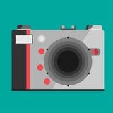 Icona della macchina fotografica isolata su fondo Immagine Stock