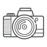 Icona della macchina fotografica per la presa i photoes e del video nello stile moderno del profilo Attributo dei turisti, artist royalty illustrazione gratis