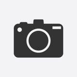 Icona della macchina fotografica su fondo bianco Immagini Stock