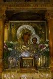Icona della madre di Dio, tomba di vergine Maria, Gerusalemme fotografie stock