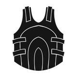 Icona della maglia di paintball nello stile nero isolata su fondo bianco Illustrazione di vettore delle azione di simbolo di pain Immagini Stock