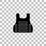 Icona della maglia di vita pianamente illustrazione vettoriale