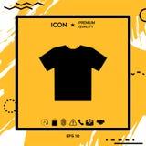 Icona della maglietta del ` s degli uomini, la siluetta Voce di menu nel web design Fotografia Stock Libera da Diritti
