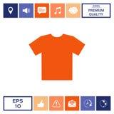 Icona della maglietta del ` s degli uomini, la siluetta Voce di menu nel web design Immagine Stock