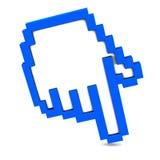 Icona della mano del mouse Fotografie Stock