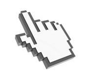 Icona della mano del mouse del computer Fotografie Stock Libere da Diritti