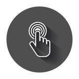 Icona della mano di clic Fotografie Stock Libere da Diritti